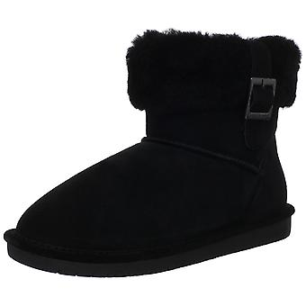 Bearpaw Womens Abby Suede Round Toe Ankle Cold Weather Boots