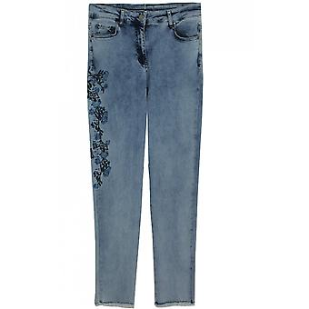 Lauren Vidal Embroidered Detailed Jeans