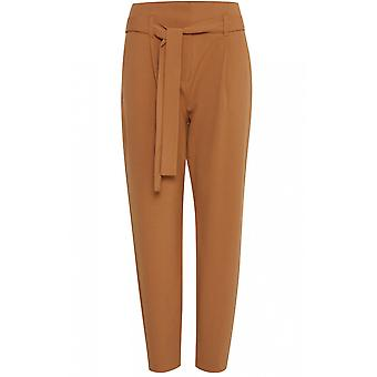 b.young Almond Paper Bag Waist Trousers