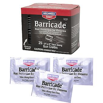 Birchwood Casey Barricade - field take along gun cleaning wipes rust protection