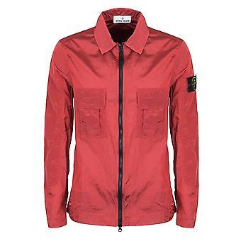 L'île de Pierre (fr) 701511117 Membrana Nylon Metal Ripstop Veste de sur-shirt léger - Rouge