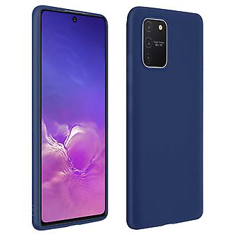 Case Galaxy S10 Lite Soft Silicone Matte Night bleu + Protecteur d'écran flexible
