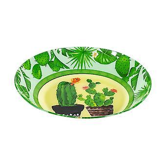 Piatti Cactus Multicolore in Vetro, L28xP28xA2,5 cm