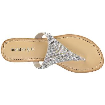 Madden Girl Womens Sabeer Open Toe Casual T-Strap Sandals