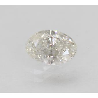 Certified 0.45 Carat F Color SI2 Oval Natural Loose Diamond 6.23x4.25mm