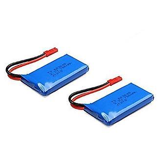 Unbekannt YUNIQUE Deutschland ® 2 Stuck Blau 37V 780mAh Akku Lipo Ersatzbatterie für Wltoys V636 V686 V686G V686K JJRC V686 RC Quadcopter