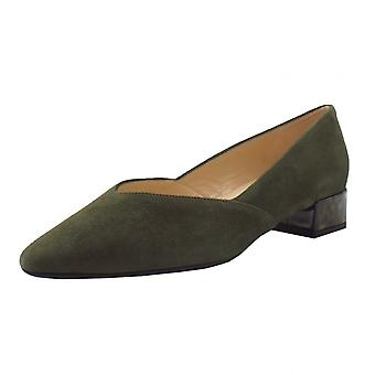Peter Kaiser Shade-a Chic Low Heel Court Shoes In Pine Suede