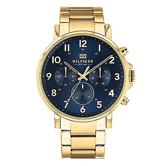 Tommy Hilfiger Watches 1710384 Navy Blue And Gold Stainless Steel Men's Watch