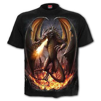 Spiraal-Draco Unleashed-mannen t-shirt