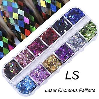 Nail Glitter Sequin Mixed Mirror, Flake Paillette -kunst Decoraties