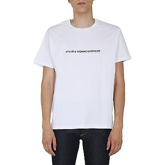 Givenchy Bm70y93002100 Men's White Cotton T-shirt