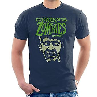 Hammer The Plague Of The Zombies Face Poster Men's T-Shirt