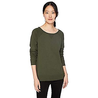 Brand - Daily Ritual Women's Terry Cotton and Modal High-Low Sweatshir...