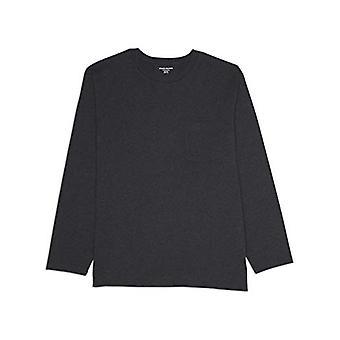 Essentials Men's Big & Tall Long-Sleeve Pocket T-Shirt, Cărbune Heath ...