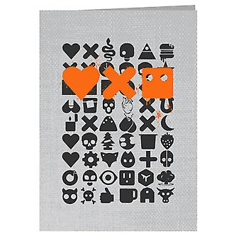 Love Death And Robots Black Icons Greeting Card