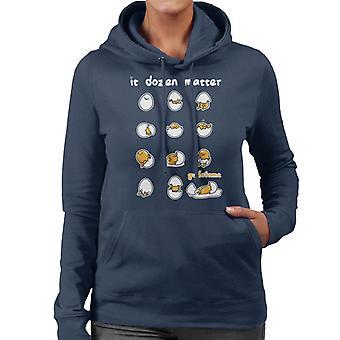 Gudetama Det Dusin Matter Women's Hætteklædte Sweatshirt
