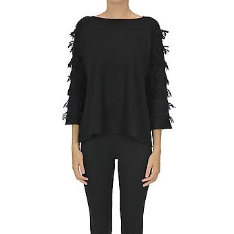 Archivio B Ezgl385010 Women's Black Wool Sweater
