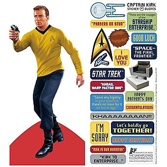 Stationery - James T. Kirk - Card and Sticker Sheet New 4581