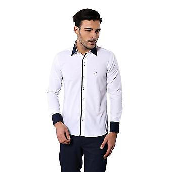 Modeled white slim fit shirt