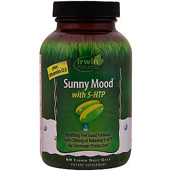 Irwin Naturals, Sunny Mood with 5-HTP, Plus Vitamin D3, 80 Liquid Soft-Gels