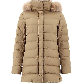Herno Pi0966d132202155 Dames's Beige Polyester Down Jacket