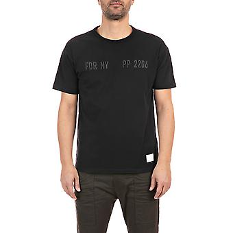 Replay Men's Print Sportlab Solid-Coloured T-Shirt Regular Fit