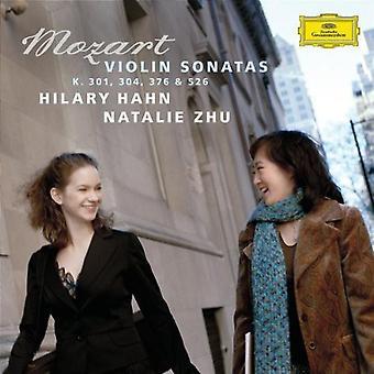 Hilary Hahn & Zhu - Mozart: Violin Sonatas K. 301, 304, 376 & 526 [CD] USA import