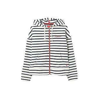 Joules Kirstie Neat Fit Hoodie (cream Navy Stripe)