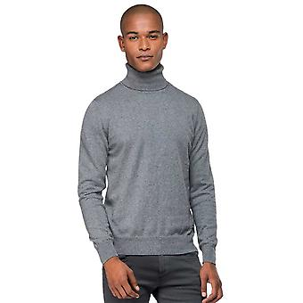 Replay Cotton Turtle Neck Grey Knitwear