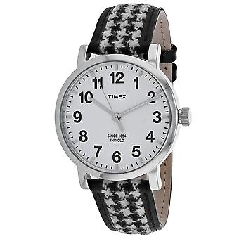 Timex Men's Houndstooth White Dial Watch - TW2P98800