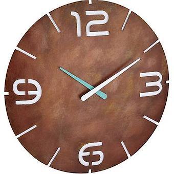 TFA Dostmann 60.3536.08 Radio Wall clock 350 mm x 35 mm Rust