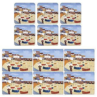 Pimpernel St Ives Windbreak Placemats ja Lasinaluset Set of 6