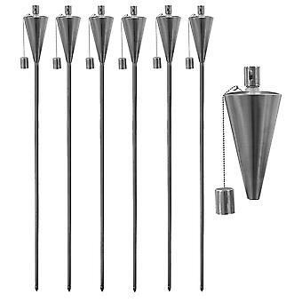 Garden Fire Torch - Oil / Paraffin Lantern - 1460mm Triangle Design - Pack Of 6