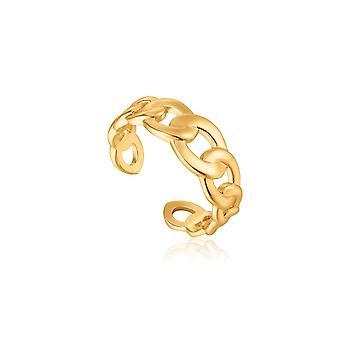 אניה Haie תגובת שרשרת מבריק שרשרת לרסן זהב טבעת מתכווננת R021-01G