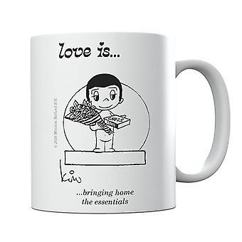 Love Is Bringing Home The Essentials Mug