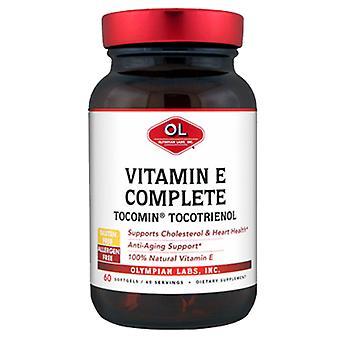 Olympian Labs Tocomin Tocotrienol Vitamin E Complete, 60 sg