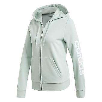 Adidas W Essentials Linear Full Zip Hoodie FM6484 universal all year men sweatshirts