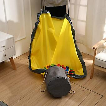 Portable Foldable Play Toy, Clean-up And Storage Bag