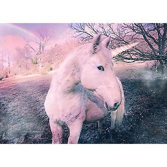 Bakgrunn mural Unicorn