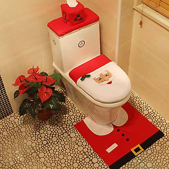 Homemiyn Kerst Toilet Cover Santa Claus