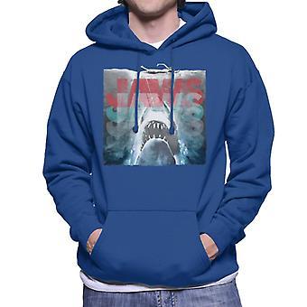 Jaws skiktad text Logo Män's Hooded Tröja