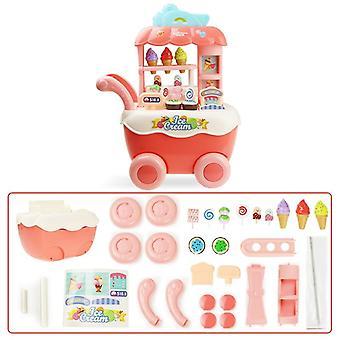 Supermarketin ostoskärry musiikilla ja kevyellä play-lelulla