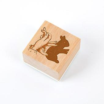 Girl Delicacy Small Seal, Wooden Rubber Stamps Set For Scrap Booking Deco Craft
