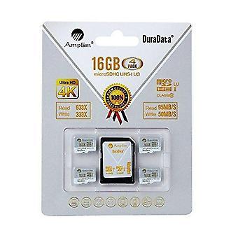 Amplim 4x 16gb micro sdhc u3 kortti plus sd adapteri paketti extreme pro luokka 10 uhs-i microsdhc 95mb/s r