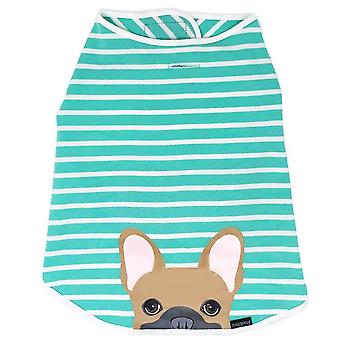 Frenchie Shirt | Frenchiestore | Fawn Französisch Bulldogge In Aquamarin