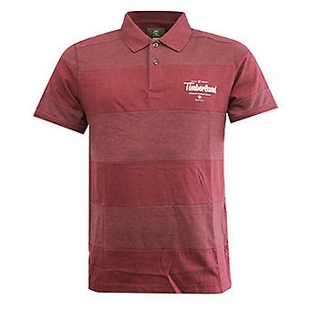 Timberland Earthkeepers Burgundy Panel Cotton Mens Polo Top Shirt 7325J 211 R21H