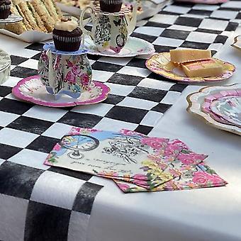 Alice i Underlandet Pappersservetter | Blommigt underland Mad Hatters Tea Party x20