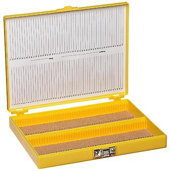 Heathrow scientific hd15994d microscope slide box, cork lined, 100 place, 208 mm length x 175 mm wid