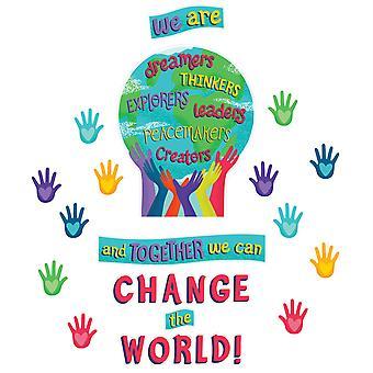 Un mundo juntos podemos cambiar el conjunto de tableros del Boletín Mundial