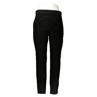 Martha Stewart Women's Pants Ponte Knit Pull-On Ankle Pants Black A342534